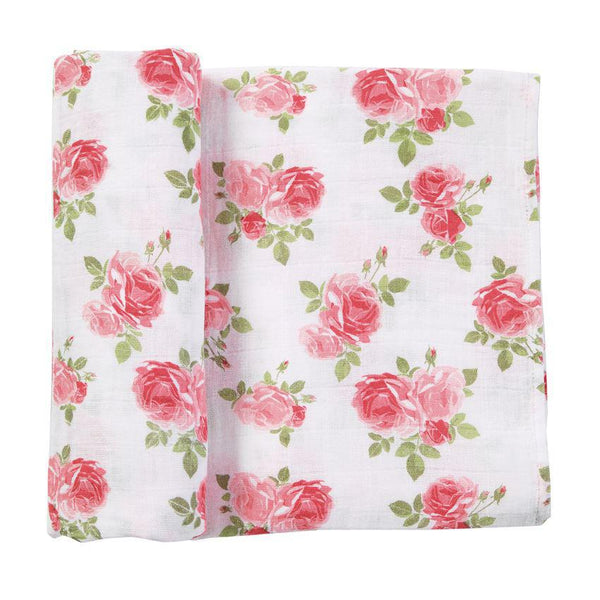 Pink Rose Muslin Swaddle