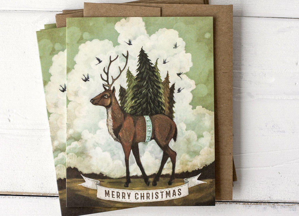 Merry Christmas Elk Card