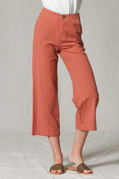 Rust Striped Pant