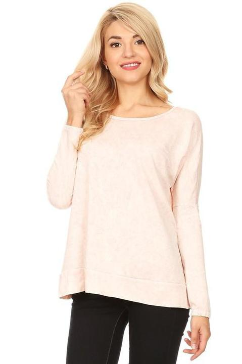 Criss Cross Mineral Wash Top