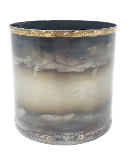 Ox Metal Large Candle