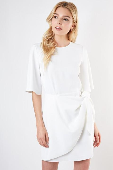 Knotty White Dress