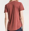 The Luxe Modal Deep Red V-Neck Tee