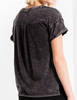 The Washed Cotton Crew Black Tee