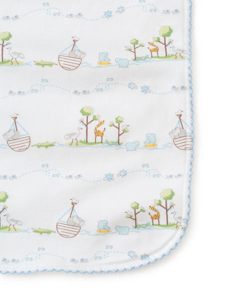 Blue Noah's Burp Cloth