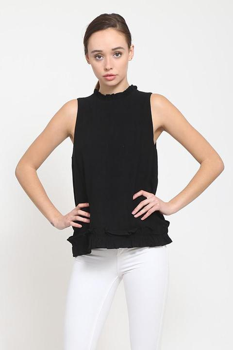 All The Frills Black Top