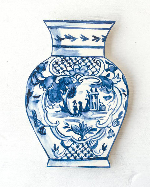 Blue China Card