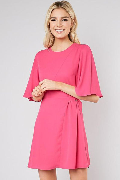 Flutter Magenta Wrap Dress