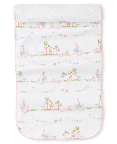 Pink Noah's Burp Cloth