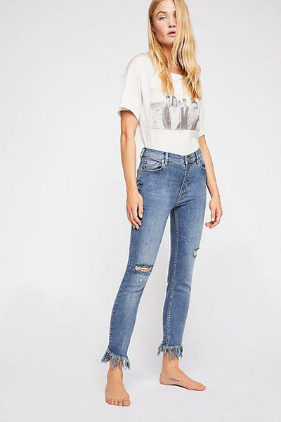 Great Heights Frayed Skinny Jeans