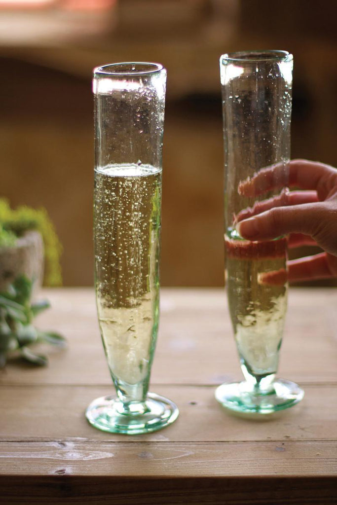 Recycled Champagne Flute
