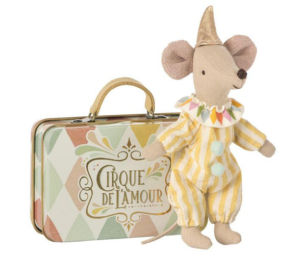 Clown Mouse in Suitcase