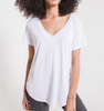 The Luxe Modal White V-Neck Tee