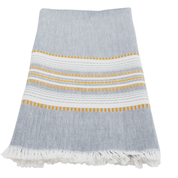 Slate Gold Chambray Towel