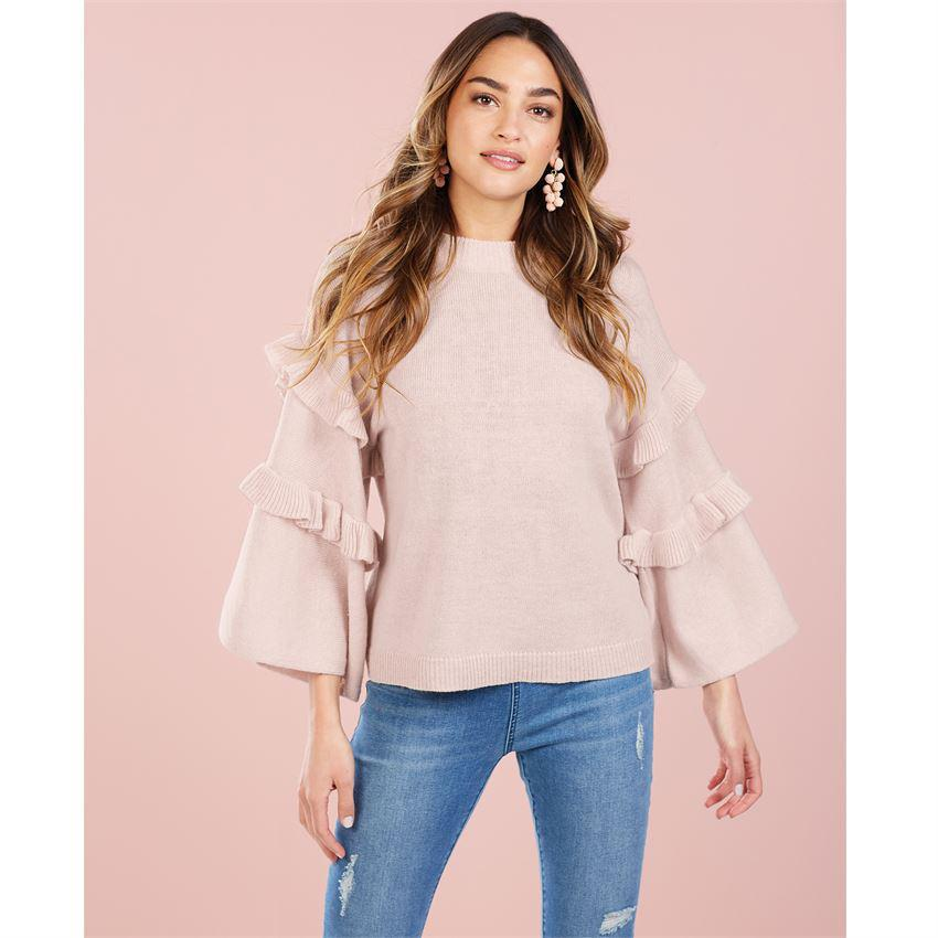 Ramsey Blush Ruffle Sweater