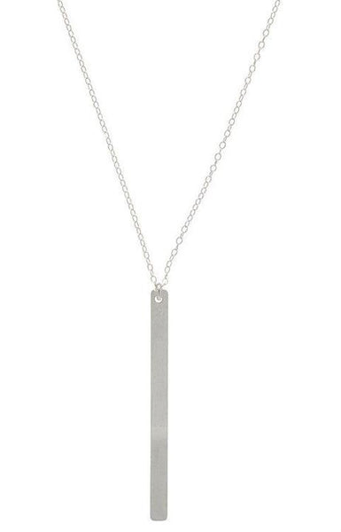 Honor Long Silver Necklace