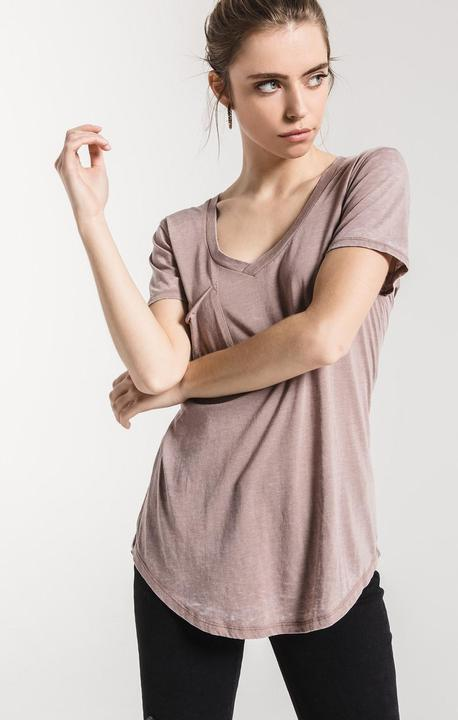 The Pocket Tee Taupe Grey