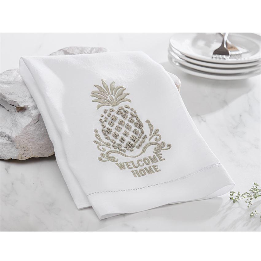 Welcome Home French Knot Towel