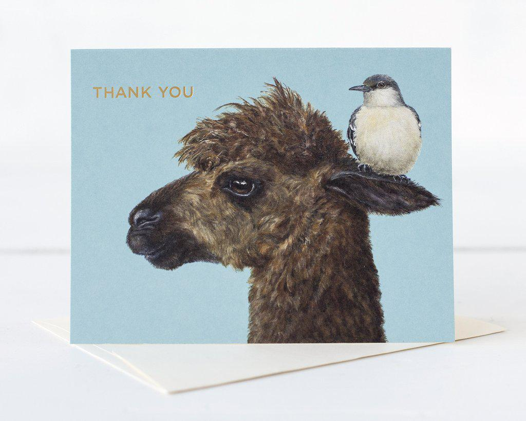 Thank You Alpaca Card