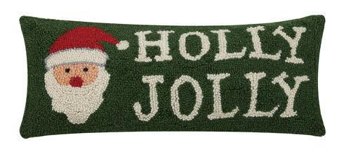 Holly Jolly Santa Pillow