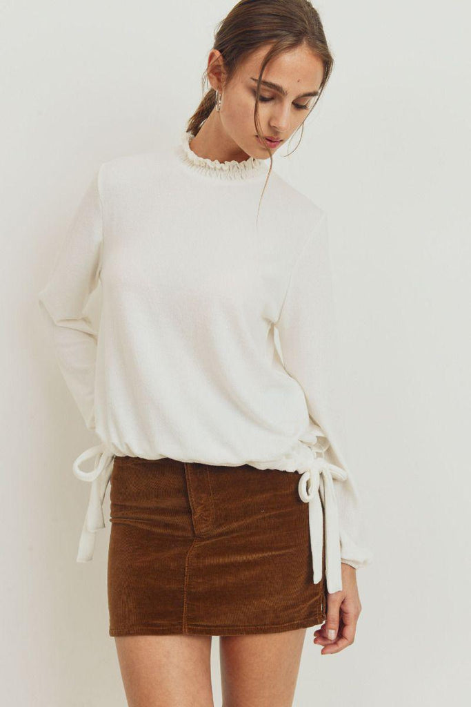Butter Ruffle Top