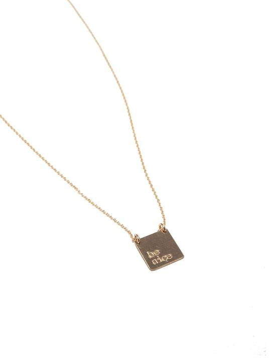 Be Still Square Necklace