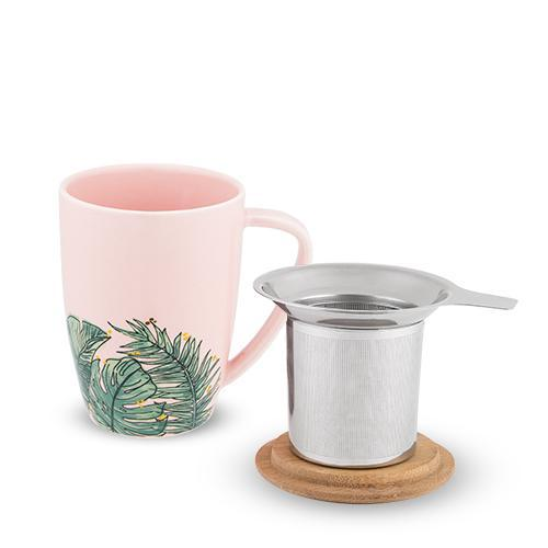 Bailey Tropical Ceramic Tea Mug & Infuser