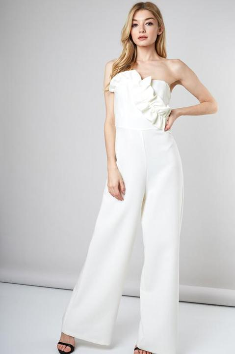 White Wed Jumpsuit