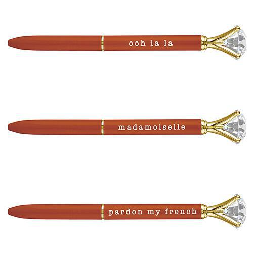 Orange Gem Phrase Pen