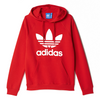 Adidas Originals Trefoil Red Hooded Sweatshirt Size Small