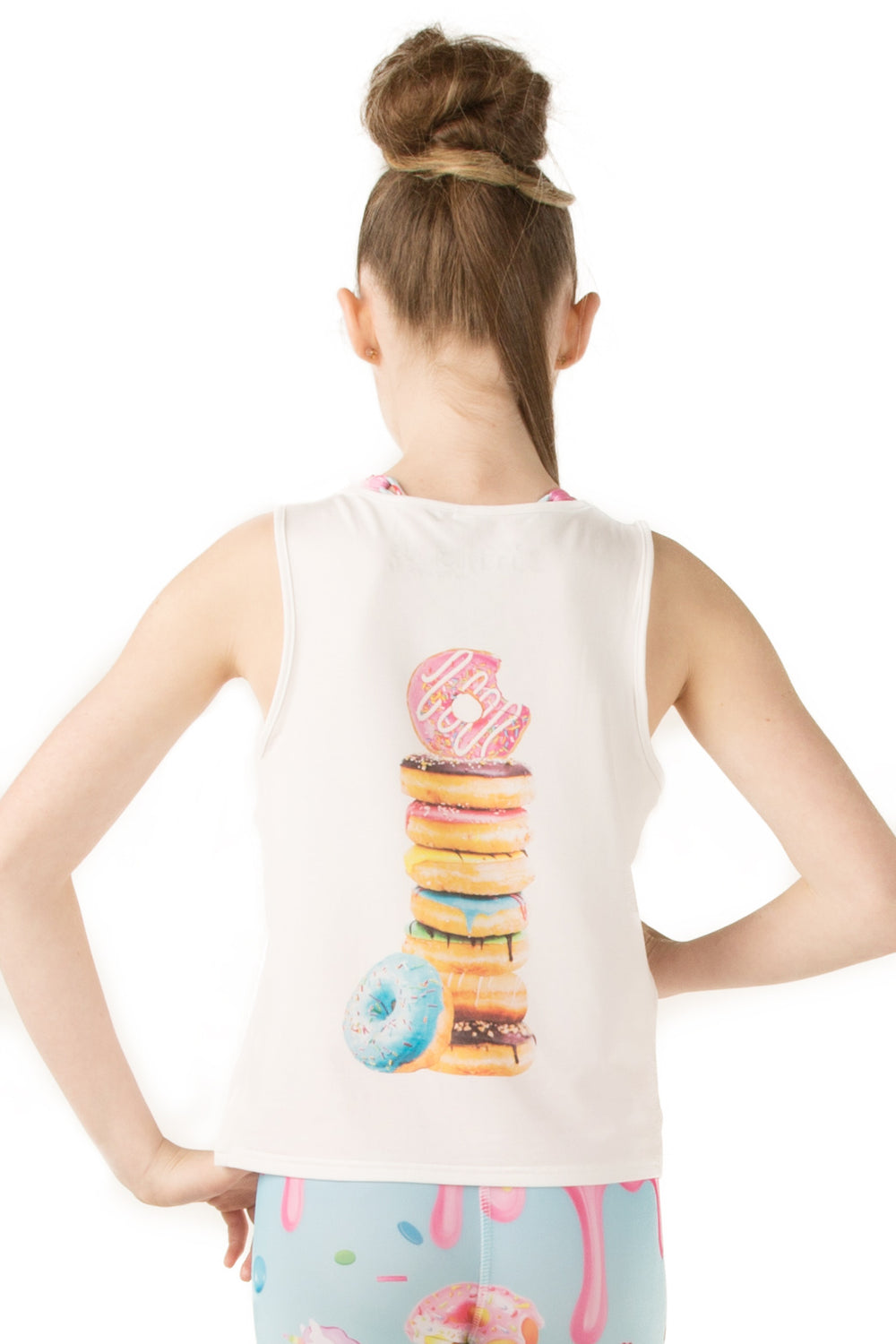 I Run For Donuts Tank - Youth