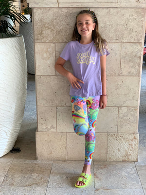 YOUTH VECTOR CANDY RAINBOW LEGGINGS