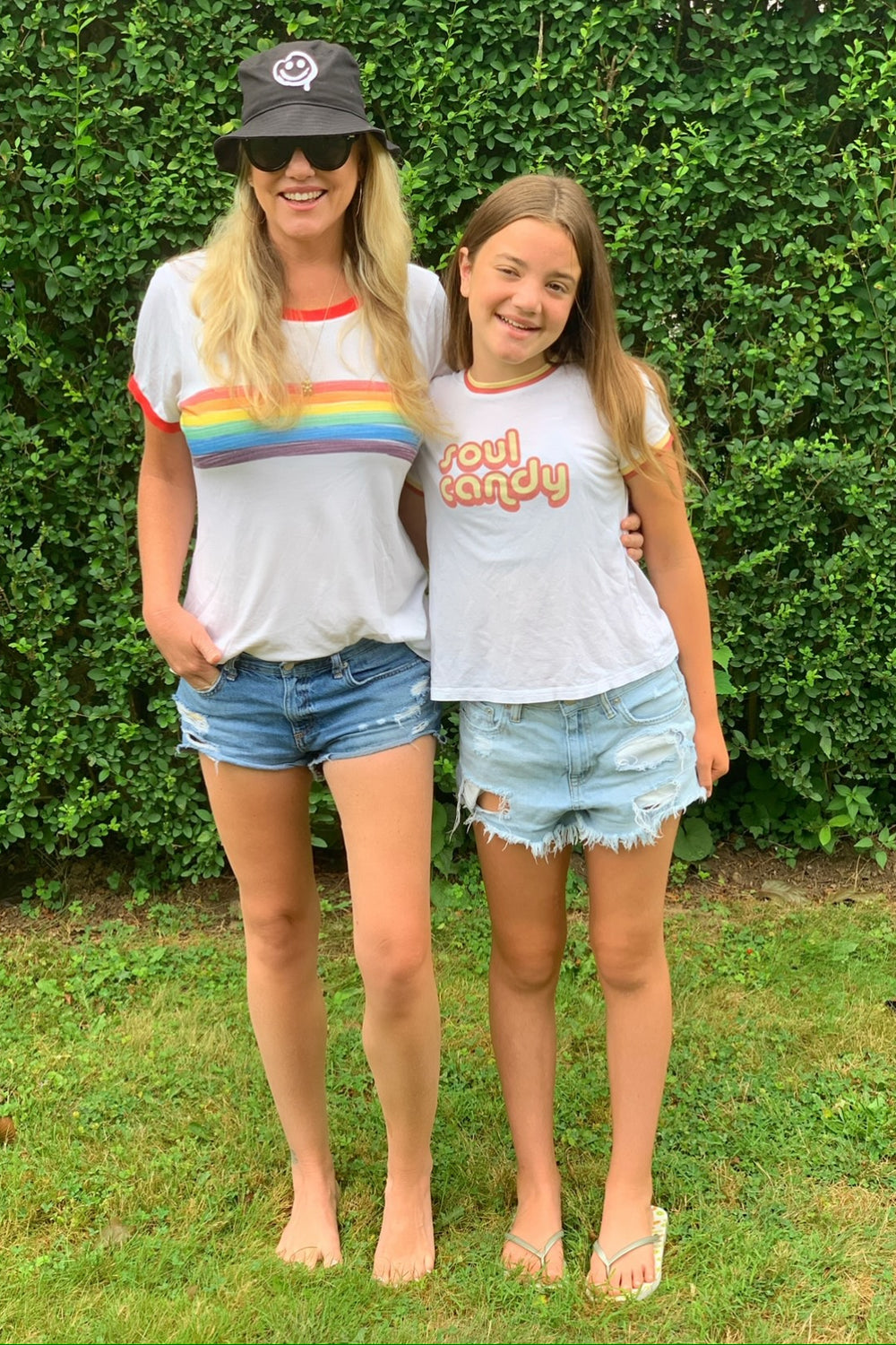 Retro Candy Rainbow Tee- Adult