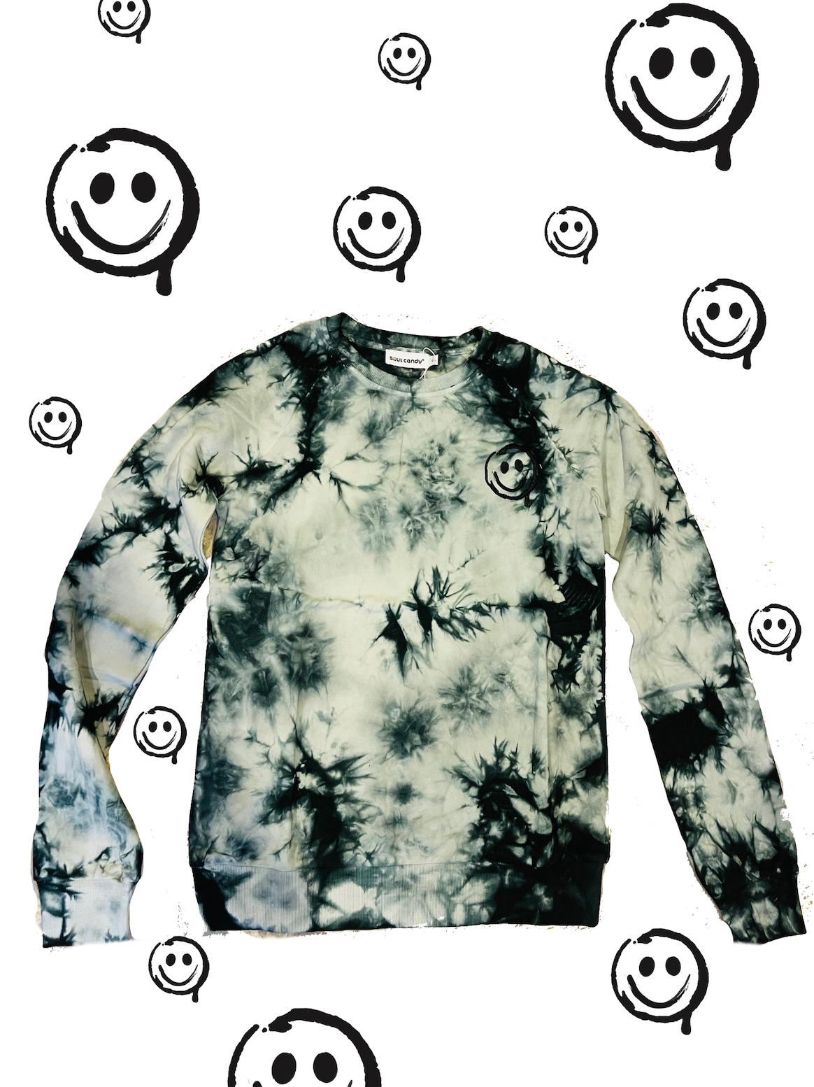 Embroidered Tye Die Sweatshirt- Adult