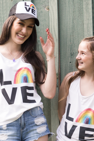 Love Rainbow Tank - Youth