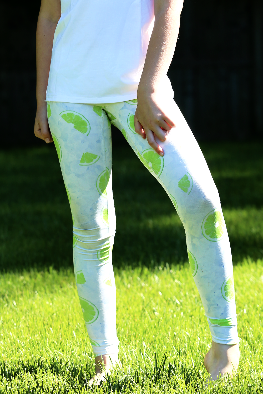 Lime and Ice Leggings- YOUTH