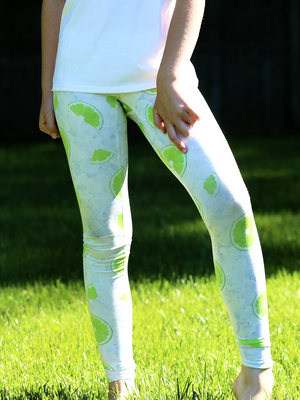 Youth Lime and Ice Leggings