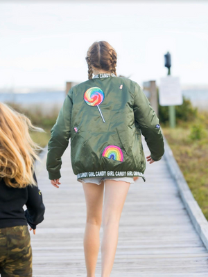 Candy Girl Bomber Jacket- Youth