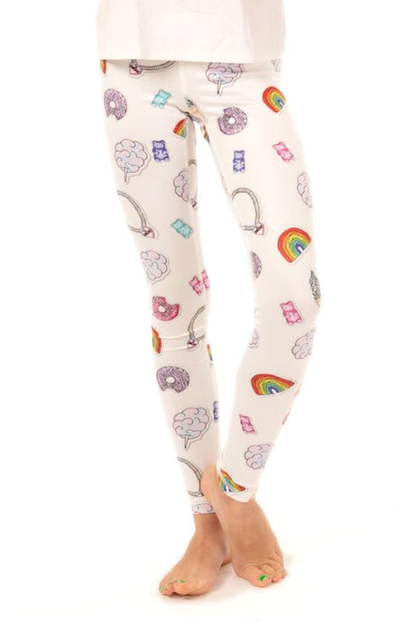 Candy Sticker Leggings-Youth