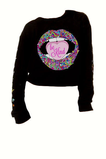 Candy Lips Cropped Sweatshirt- Adult