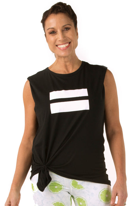 Equal Black Muscle Tee
