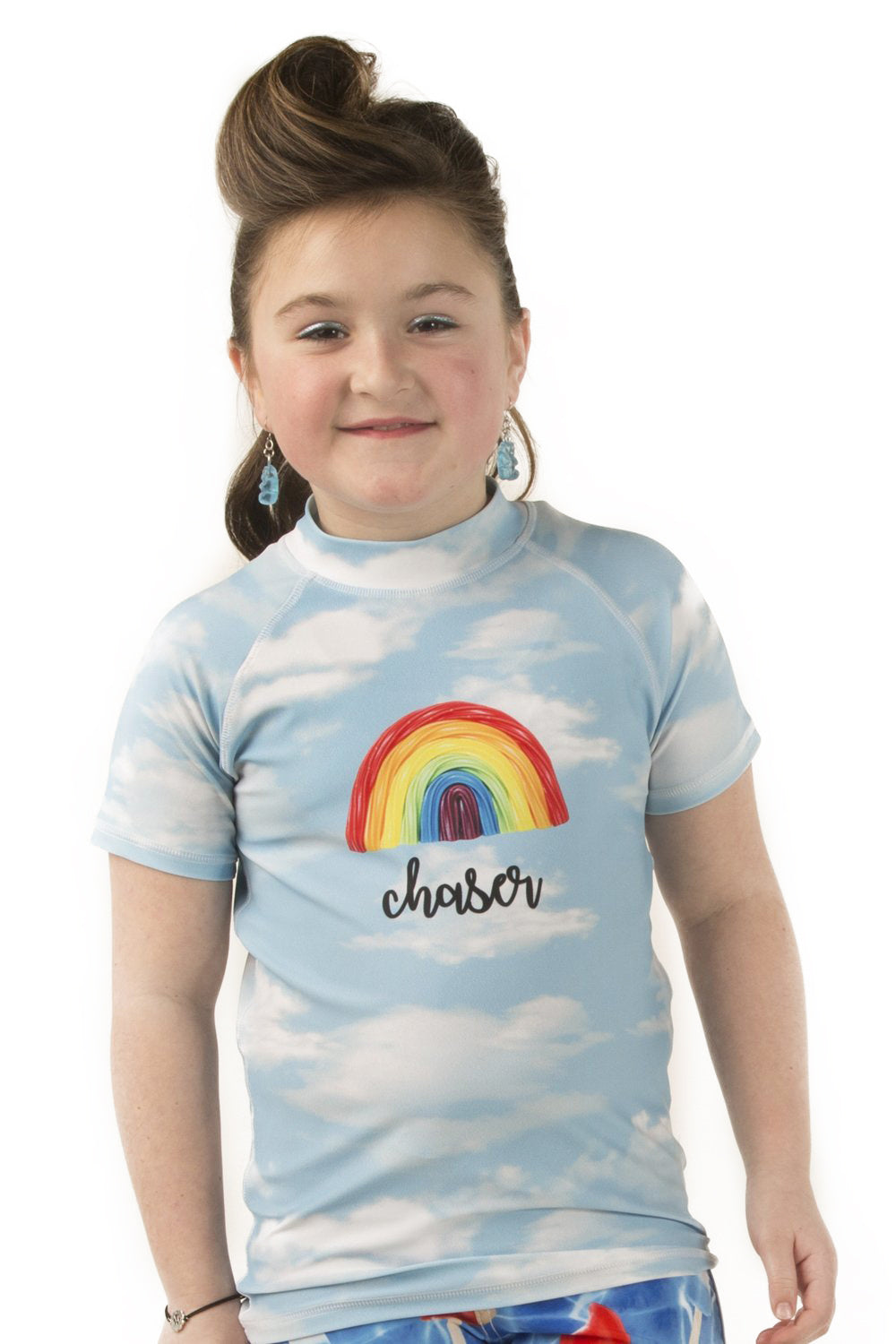 Rainbow Chaser Rash Guard Sunshirt- Youth