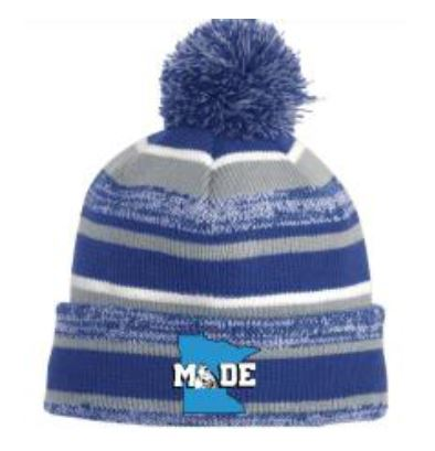 Made Beanie - Blue and White