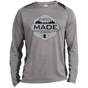 Minnesota Made - Shield -  Heather Colorblock Poly T-Shirt