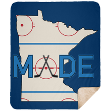 Minnesota Made - Rink Rat - Large Fleece Sherpa Blanket - 50x60