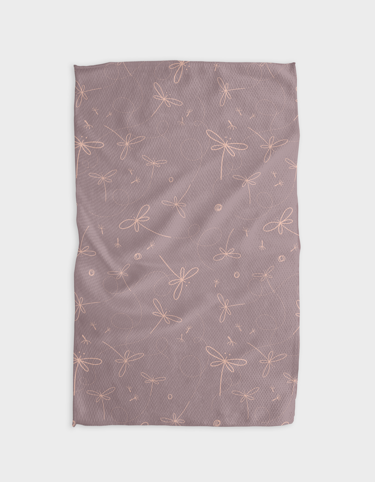 Dragonfly Dance Kitchen Tea Towel