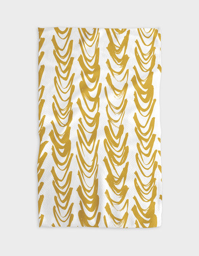 Gold Curtain Kitchen Tea Towel