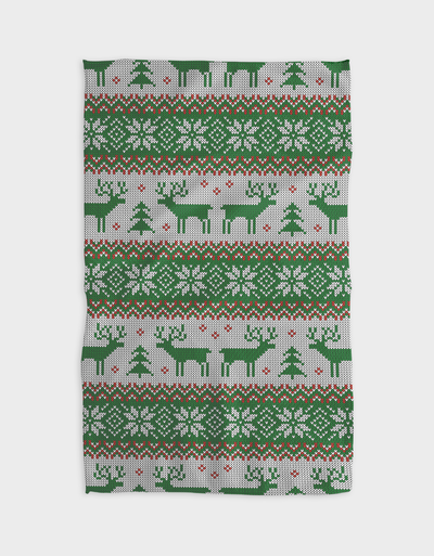 Green Moose Kitchen Tea Towel