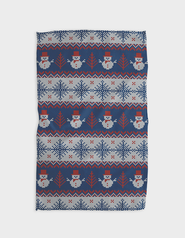 Happy Snowmen Kitchen Tea Towel