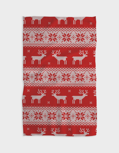 Holly Moose Kitchen Tea Towel